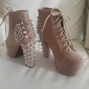 Jeffrey Campbell Spiked booties size 8